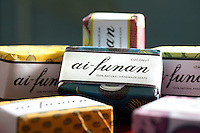 August 7th 2011_ HONG KONG_ Bars of Ai-Funan soap, which is all natural and handmade by a group of women in Timor-Leste.  Coffee, Frangipani, Guava, Candlenut, Coconut and Lemongrass are the six soaps currently available.  Ai-Funan is the Timorese word for flower.  Photographer: Daniel J. Groshong/The Hummingfish Foundation