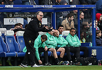 Leeds United's manager Marcelo Bielsa (left) reacts in front of the QPR bench<br /> <br /> Photographer Andrew Kearns/CameraSport<br /> <br /> The Emirates FA Cup Third Round - Queens Park Rangers v Leeds United - Sunday 6th January 2019 - Loftus Road - London<br />  <br /> World Copyright &copy; 2019 CameraSport. All rights reserved. 43 Linden Ave. Countesthorpe. Leicester. England. LE8 5PG - Tel: +44 (0) 116 277 4147 - admin@camerasport.com - www.camerasport.com
