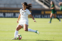 BERKELEY, CA - Sept 16th, 2016: Cal's (13) Kayla Fong kicks the ball. Cal Women's Soccer played the University of San Francisco on Goldman Field at Edwards Stadium.