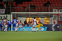 EMMEN - Voetbal, FC Emmen - Almere City, Jens Vesting, Jupiler League, seizoen 2017-2018, 17-11-2017,  Almere City FC speler Damon Mirani scoort de 2-1