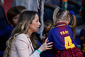 18th March 2018, Camp Nou, Barcelona, Spain; La Liga football, Barcelona versus Athletic Bilbao; Raque Mauri wife of Ivan Rakitic of FC Barcelona with this children