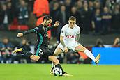1st November 2017, Wembley Stadium, London, England; UEFA Champions League, Tottenham Hotspur versus Real Madrid; Isco of Real Madrid is under pressure from Kieran Trippier of Tottenham Hotspur