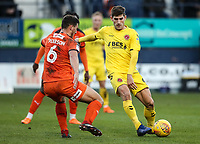 Fleetwood Town's Ched Evans competing with Luton Town's Matty Pearson<br /> <br /> Photographer Andrew Kearns/CameraSport<br /> <br /> The EFL Sky Bet League One - Luton Town v Fleetwood Town - Saturday 8th December 2018 - Kenilworth Road - Luton<br /> <br /> World Copyright &copy; 2018 CameraSport. All rights reserved. 43 Linden Ave. Countesthorpe. Leicester. England. LE8 5PG - Tel: +44 (0) 116 277 4147 - admin@camerasport.com - www.camerasport.com