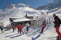 Ski slope restaurant Le Criou, Bonneval sur Arc, Savoie, France, 17 February 2012.