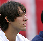 11 July 2004: New England rookie Clint Dempsey watches second half action of the United States vs Poland match that was played before the Rev's game. The Chicago Fire tied the New England Revolution 1-1 at Soldier Field in Chicago, IL during a regular season Major League Soccer game..