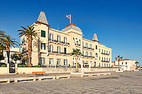 Traditional houses in the town of Spetses island, Greece