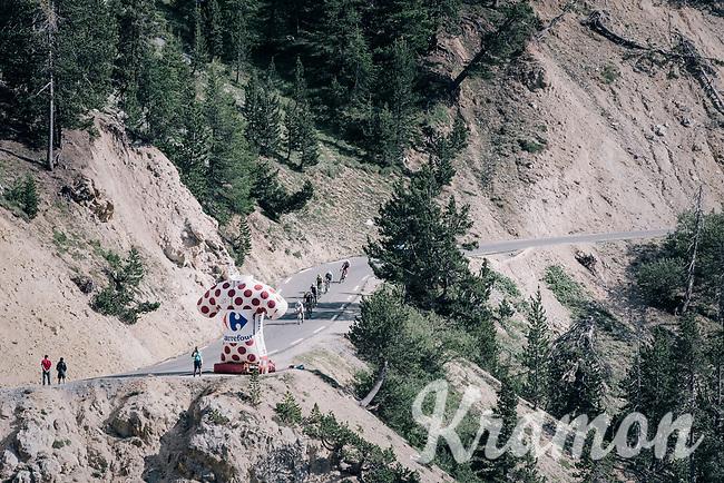 descending in the  final section of La Casse Déserte up the Col d'Izoard (HC/2360m/14.1km/7.3%)<br /> <br /> 104th Tour de France 2017<br /> Stage 18 - Briancon › Izoard (178km)