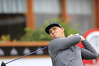 Marcus Armitage (ENG) tees off the 1st tee during Saturday's Round 3 of the 2017 Omega European Masters held at Golf Club Crans-Sur-Sierre, Crans Montana, Switzerland. 9th September 2017.<br /> Picture: Eoin Clarke | Golffile<br /> <br /> <br /> All photos usage must carry mandatory copyright credit (&copy; Golffile | Eoin Clarke)