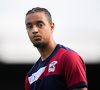 Scunthorpe United's Cameron Borthwick-Jackson during the pre-match warm-up<br /> <br /> Photographer Chris Vaughan/CameraSport<br /> <br /> The EFL Sky Bet League One - Scunthorpe United v Peterborough United - Saturday 13th October 2018 - Glanford Park - Scunthorpe<br /> <br /> World Copyright © 2018 CameraSport. All rights reserved. 43 Linden Ave. Countesthorpe. Leicester. England. LE8 5PG - Tel: +44 (0) 116 277 4147 - admin@camerasport.com - www.camerasport.com