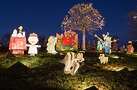 Enthusiastic Austinites love the Austin's Zilker Park Trail of Lights Cartoon displays