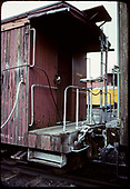 End view of caboose and coupling.<br /> D&amp;RGW