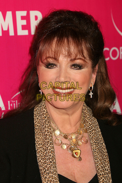 JACKIE COLLINS.Billy Wilder Theater Opening Tribute at the Hammer Museum, Westwood, California, USA,.03 December 2006.portrait headshot black suit jacket leopard print scarf gold necklace fringe.CAP/ADM/BP.©Byron Purvis/AdMedia/Capital Pictures.