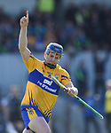Podge Collins of Clare celebrates his goal  during their National League game against Waterford at Cusack Park. Photograph by John Kelly.