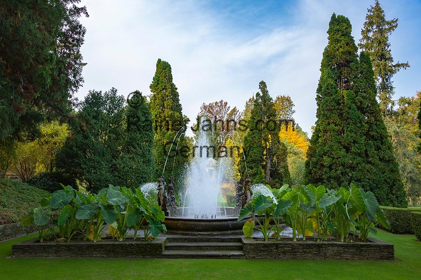 Italy, Piedmont, Verbania: Villa Taranto - Botanical Garden, putti fountain (Fontana dei Putti) | Italien, Piemont, Verbania: Botanischer Garten der Villa Taranto, Putten Springbrunnen (Fontana dei Putti)