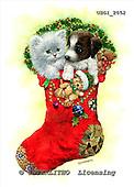GIORDANO, CHRISTMAS ANIMALS, WEIHNACHTEN TIERE, NAVIDAD ANIMALES, paintings+++++,USGI2052,#XA# christmas stocking