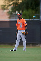 Houston Astros Nestor Muriel (23) during an instructional league game against the Atlanta Braves on October 1, 2015 at the Osceola County Complex in Kissimmee, Florida.  (Mike Janes/Four Seam Images)