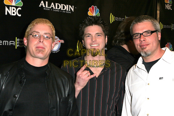 CROSSFADE.2005 Radio Music Awards - Arrivals held at the Aladdin Hotel, Las Vegas, Nevada..December 19th, 2005.Photo: Zach Lipp/AdMedia/Capital Pictures.Ref: ZL/ADM.headshot portrait hand getsure glasses goatee facial hair.www.capitalpictures.com.sales@capitalpictures.com.© Capital Pictures.