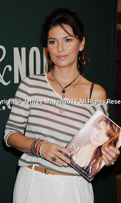"LOS ANGELES, CA - MAY 12: Shania Twain Signs Copies Of Her Book ""From This Moment On"" at Barnes & Noble bookstore at The Grove on May 12, 2011 in Los Angeles, California."