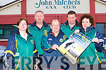 SYLVIE MASON BLITZ: Launching the annual Sylvie Mason Blitz to held at the John Mitchels club on Saturday 22nd September at 10am l-r: Mary Jo Connolly, Joe Myers, David O'Callaghan, Humphrey Shanahan (club coach) and Brid McElligott-Rusk (chairperson).