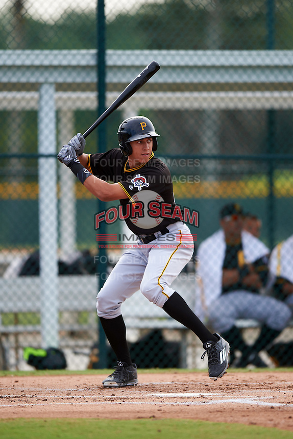 Pittsburgh Pirates Cole Tucker (22) during a minor league Spring Training intrasquad game on April 3, 2016 at Pirate City in Bradenton, Florida.  (Mike Janes/Four Seam Images)