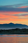 Pink clouds at sunset over the mouth of Morro Bay, California