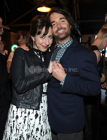 LOS ANGELES - FEBRUARY 24: Kristen Schaal and Will Forte at an exclusive screening of the premiere episode of FOX's 'The Last Man on Earth' at Big Daddy's Antique Shop on February 24, 2015 in Los Angeles, California. Credit: PGFM/MediaPunch