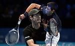 20.11.2016 ATP World Tour Finals at O2 Arena London UK  Final Andy Murray GB vs Novak Djokovic SRB Photo:Leo MasonSplit Second