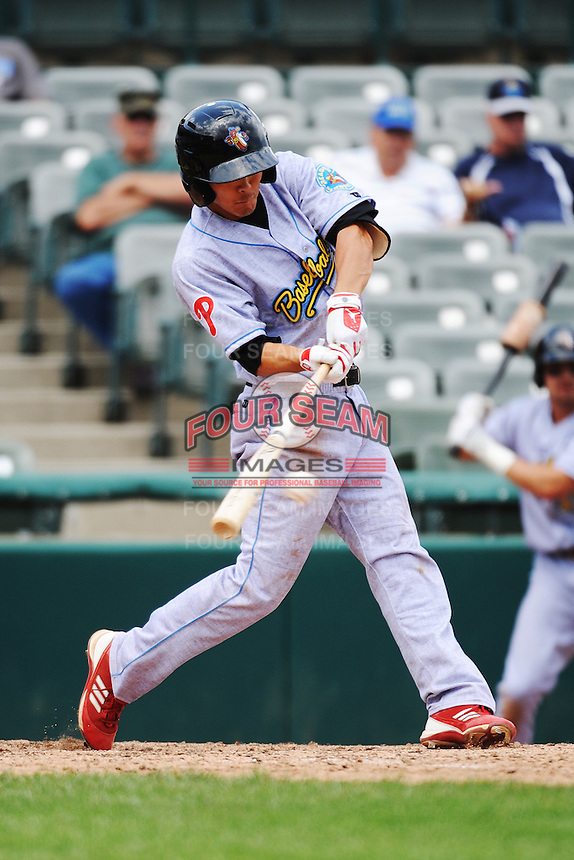 Reading Fightin Phils infielder Troy Hanzawa (2) during game against the Trenton Thunder at ARM & HAMMER Park on July 8, 2013 in Trenton, NJ.  Trenton defeated Reading 10-6.  (Tomasso DeRosa/Four Seam Images)