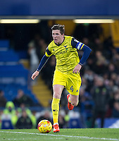 John Lundstram of Oxford United on the ball during the The Checkatrade Trophy match between Chelsea U23 and Oxford United at Stamford Bridge, London, England on 8 November 2016. Photo by Andy Rowland.