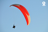 Paraglider in air (Licence this image exclusively with Getty: http://www.gettyimages.com/detail/sb10068346e-001 )