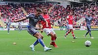 Lincoln City's Tyler Walker scores the opening goal<br /> <br /> Photographer Chris Vaughan/CameraSport<br /> <br /> The EFL Sky Bet Championship - Rotherham United v Lincoln City - Saturday 10th August 2019 - New York Stadium - Rotherham<br /> <br /> World Copyright © 2019 CameraSport. All rights reserved. 43 Linden Ave. Countesthorpe. Leicester. England. LE8 5PG - Tel: +44 (0) 116 277 4147 - admin@camerasport.com - www.camerasport.com
