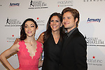 Ellen Lowey poses with Meryl Davis & Charlie White - The 11th Annual Skating with the Stars Gala - a benefit gala for Figure Skating in Harlem - honoring Meryl Davis & Charlie White (Olympic Ice Dance Champions and Meryl winner on Dancing with the Stars) and presented award by Tamron Hall on April 11, 2016 on Park Avenue in New York City, New York with many Olympic Skaters and Celebrities. (Photo by Sue Coflin/Max Photos)