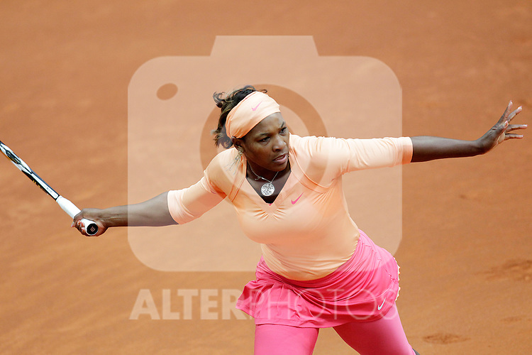 Serena Williams during Tennis Madrid Open match, May 5,2010..(ALFAQUI/Cesar Cebolla)