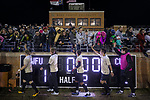 Fans line the railing to high five the Wake Forest Demon Deacons after their win over the Columbia Lions in the second round of the 2017 NCAA Men's Soccer Championship at Spry Soccer Stadium on November 19, 2017 in Winston-Salem, North Carolina.  The Demon Deacons defeated the Lions 1-0.  (Brian Westerholt/Sports On Film)