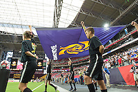Glendale, AZ - Saturday June 25, 2016: Flag Kids prior to a Copa America Centenario third place match match between United States (USA) and Colombia (COL) at University of Phoenix Stadium.