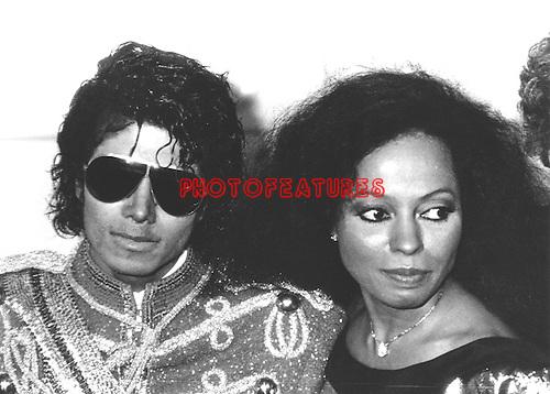 Michael Jackson & Diana Ross 1984 American Music Awards..© Chris Walter..
