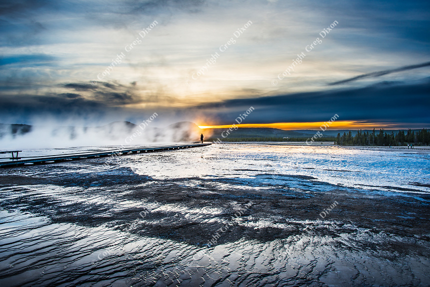 """""""Focal Point""""  Yellowstone National Park  Grand Prismatic Spring 