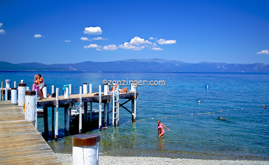 Lake Tahoe, Chambers Landing, Female , Bikini, Mountains