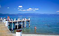 Lake Tahoe, Chambers Landing, Female , Bikini, Mountains