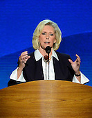 Lilly Ledbetter, women's equality advocate,makes remarks at the 2012 Democratic National Convention in Charlotte, North Carolina on Tuesday, September 4, 2012.  .Credit: Ron Sachs / CNP.(RESTRICTION: NO New York or New Jersey Newspapers or newspapers within a 75 mile radius of New York City)