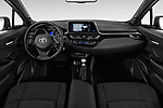 Stock photo of straight dashboard view of a 2018 Toyota C-HR C-LUB 5 Door SUV