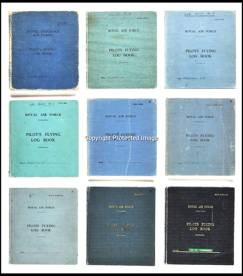 BNPS.co.uk (01202 558833)<br /> Pic DominicWinter/BNPS<br /> <br /> ***Please use full byline***<br /> <br /> Trubshaw's log books spanning his 30 year career. <br /> <br /> The supersonic archive amassed by legendary Concorde test pilot Brian Trubshaw during his flying career is being sold by his family.<br /> <br /> The collection made by the late airman who was the first to fly the famous turbo-jet in Britain in 1969, includes all his log books covering his 30 years service.<br /> <br /> He went on to put Concorde through its paces, criss-crossing the globe at twice the speed of sound before the plane entered commercial service six years later.<br /> <br /> The archive is being sold by Dominic Winter Auctioneers, Glocs. on November 7th.