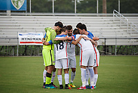 Lakewood Ranch, FL - Sunday July 23, 2017: USA starters huddle during an international friendly match between the paralympic national teams of the United States (USA) and Canada (CAN) at Premier Sports Campus at Lakewood Ranch.