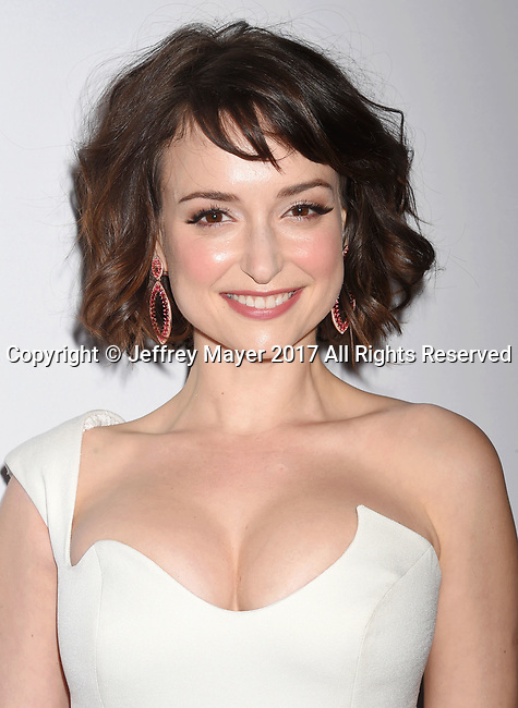 LOS ANGELES, CA - FEBRUARY 23: Actress Milana Vayntrub attends Cadillac's 89th annual Academy Awards celebration at Chateau Marmont on February 23, 2017 in Los Angeles, California.