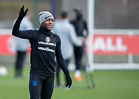 Raheem Sterling of England during the England National Team Training ahead of the international friendly match with Italy at Tottenham Hotspur Training Ground, Hotspur Way, England on 26 March 2018. Photo by Vince  Mignott.