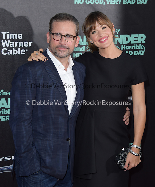 Jennifer Garner and Steve Carell attends The Disney World Premiere of Alexander and the Terrible,Horrible,No Good, Very Bad held at The El Capitan  in Hollywood, California on October 06,2014                                                                               © 2014 Hollywood Press Agency