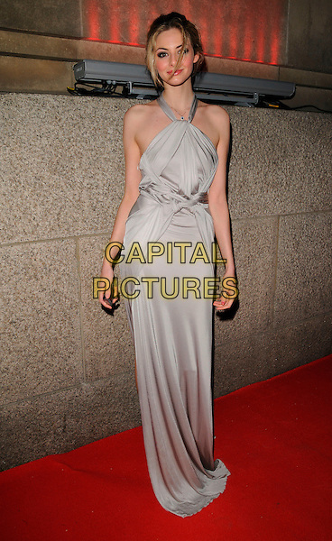 TAMSIN EGERTON.Attend Andy & Patti  Wong's Chinese New Year Party, County Hall, Westminster Bridge Road,.London, England, 26th January 2008..full length grey gray silver dress halterneck knotted Grecian .CAP/CAN.©Can Nguyen/Capital Pictures