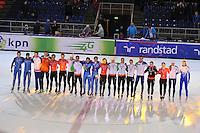 SHORTTRACK: AMSTERDAM: 05-01-2014, Jaap Edenbaan, NK Shorttrack, Huldiging Nederlands kampioenen, ©foto Martin de Jong
