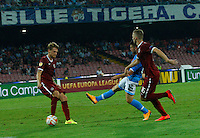 Dries Mertens  shoot to scores during the Europa League   soccer match between SSC Napoli and Sparta Praha  at  the San Paolo   stadium in Naples  Italy , september 18 , 2014