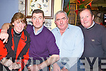 Enjoying the Ceoil agus Craic in the Railway Bar, Ballybunion last Friday night,  to celebrate the upcoming County Fleadh later on this year, pictured l-r were locals Kathleen and John Joy, Mike Gorman and Mike Beasley.